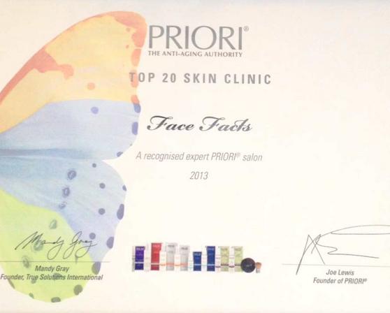 FaceFacts priori award